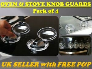 *BabyGuard* Oven Stove Knob Guards Cooker Hob Pack of 4