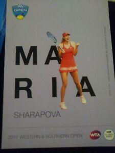 WTA WESTERN & SOUTHERN 5x7 MARIA SHARAPOVA TENNIS CARD 2017 EDITION G/AWAY