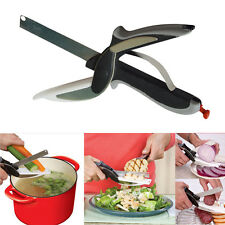 Home Kitchen Clever Cutter Knife Cutting Board Scissors Practical Tool Useful