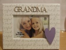 NEW!  GRANDMA PHOTO FRAME 3D GIFT SHOP CLEARANCE