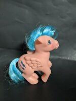 VTG My Little Pony Figure G1 Pink Blue FIREFLY Pegasus Lightning Bolts 1983