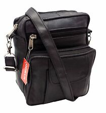 MENS / LADIES UNISEX REAL LEATHER TRAVEL SHOULDER MAN BAG CROSS BODY MESSENGER