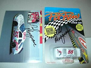 Autograph NASCAR Diecast 55 Ted Musgrave Jasper Pit Row car and card signed