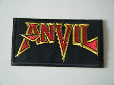 ANVIL PATCH Embroidered Iron On Sew On Heavy Thrash Metal Band Logo Badge NEW