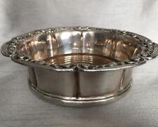 More details for old sheffield silver plate bottle decanter coaster chased copper oak wood base