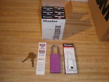 Box Of 6 Master Lock 411prp 2 Keys Lockout Tagout Safety Padlock Purple
