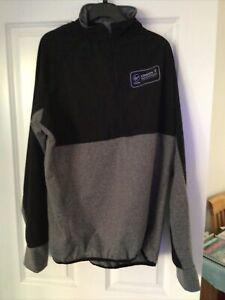 Virgin Money London Marathon Running Track Grey Black 1/2 Zip Top UK Size XL