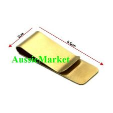 1 x mens ladies money clip note card holder brass metal wallet purse gold bag