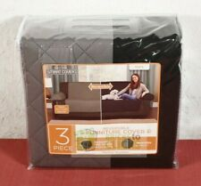 Maytex- Black/Gray Reversible Pet Cover Microfiber Sofa Slipcover