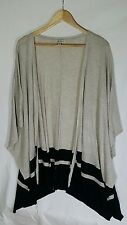Autograph Short Sleeved Layering Striped Cardigan Acrylic/Viscose Size XL