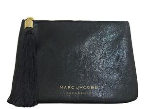 MARC JACOBS Decadence Dark Green Satin Clutch/Pouch/Makeup/Cosmetic Bag - New