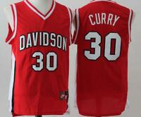 NEW Stephen Curry #30 Davidson Wildcats Red Swingman Stitched Jersey Men