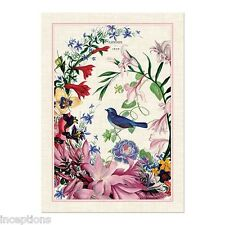 Michel Design Works Cotton Kitchen Tea Towel Romance Bird Floral - NEW