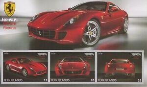 Timbres Automobiles Ferrari - Feuillet de Ferr Islands neuf **