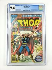THOR Annual #6 CGC Grade 9.4 White Pages Marvel Comics 1977 Korvac Brahl Achemon