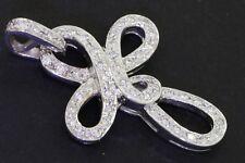 Heavy 18K white gold beautiful .54CT VS1/G diamond cross/crucifix pendant