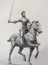 Jeanne d'Arc Paul Dubois gravure par Achille Jacquet sté Amis des Arts fin XIX e