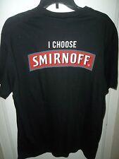 I Choose Smirnoff Vodka T-Shirt Black Large The People's Challenge Alcohol