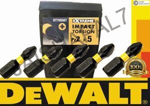 DeWALT PZ2 Extreme Impact Torsion Pozi 2 Screwdriver Bits 25mm x 5 MAKITA, BOSCH