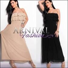 Polyester Strapless Dresses for Women