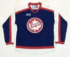 Vintage Reebok CHL Windsor Spitfires OHL Hockey Jersey Adult M Blue Canada Sewn