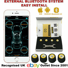 Bluetooth Car TPMS Tire Pressure Monitor System BT-4.0 BLE for iOS or Android UK