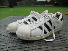 ADIDAS SUPERSTAR ORIGINALS - White Black Stripes - Mens Trainers Shoes UK SIZE 9