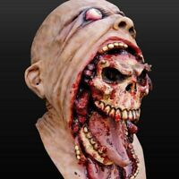 Hot! Bloody Zombie Mask Melting Face Latex Costume Walking Dead Halloween Scary