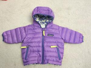 Patagonia Reversible Down Sweater Hoody Baby Girl 3-6 Months Purple