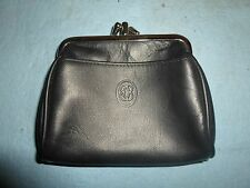 Black Leather Double Sided Change Purse *BW-A2-2