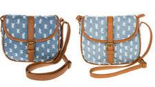 Damentaschen aus Denim mit Reißverschluss
