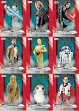 Star Wars : The Last Jedi S1 Complete 100 Base Set  Topps - 2017