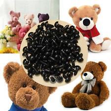 100 tlg 6-12mm Puppe Augen Teddyaugen Sicherheitsaugen Kunststoffaugen schwarz