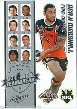 Wests Tigers 2014 Season NRL & Rugby League Trading Cards