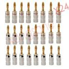 24PCS Nakamichi 24k Gold Plated Audio Banana Speaker Plug Screw Cable & Wire