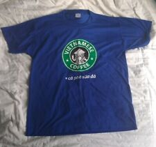 Vietnamese Coffee T Shirt ca phe sua da iced Blue Starbucks logo Medium Bootleg