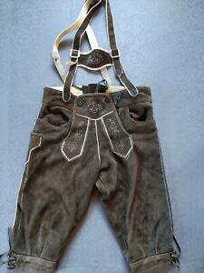 Lederhose Jungen 6-7 Jahre Gr.122 getragen