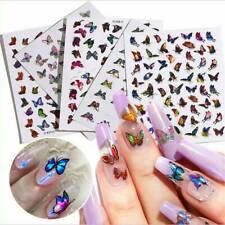 3D Nail Art Stickers Holographics Self-adhesive Butterfly Decals Nail Art Decor