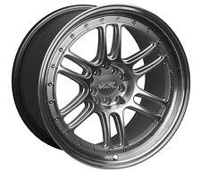 XXR 552 18X10 Rims 5x100/114.3 +36 Silver Wheels Fits 350z G35 240sx Rx8 Rx7
