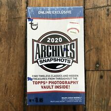 2020 Topps Archives Snapshots Box Sealed Autograph Pack