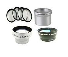 Wide Lens + Tele Lens + Close Up + Tube for Canon Powershot A700 A710 A720 IS