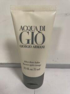 Giorgio Armani Acqua Di Gio After Shave Balm Men 2.5 Oz / 75 Ml New