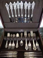 WALLACE GRANDE BAROQUE 40 PCS FOR 8 STERLING SILVER FLATWARE SERVICE SET