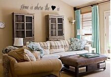 HOME IS WHERE THE HEART IS Vinyl wall decals quotes sayings word lettering decor