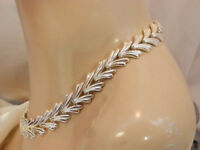 Fabulous High End Great Quality Silver Tone Vintage 1960's Rope Necklace 228N8