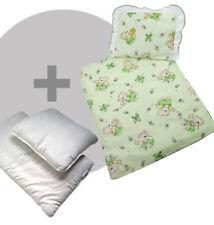 4 tlg.SET Bezug für Kinderwagen Bettwäsche Decke+Kissen+Füllung Bär-Biene Grün