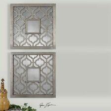 Uttermost Sorbolo Squares Decorative Mirror in Silver (Set of 2)