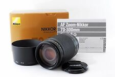 Nikon Zoom-NIKKOR 70-300mm f/4-5.6 AF G Lens w/BOX Caps Instruction Manual Hood