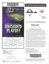 New Orleans Saints Minnesota Vikings 2018 PDF ticket MINNEAPOLIS MIRACLE 1-14-18