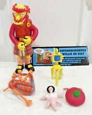 Playmates Simpsons GROUNDSKEEPER WILLIE In Kilt Action Figure MINTY & Complete!!